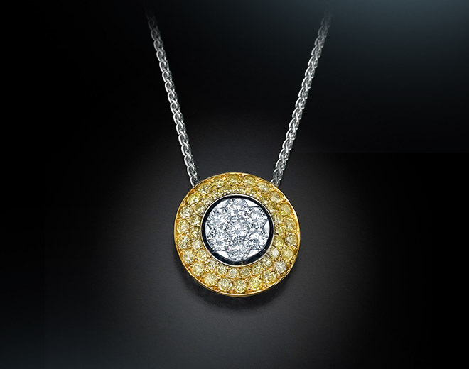 A-7C Pendant with fancy yellow