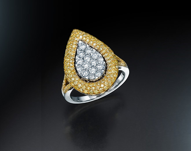 PS-15 Ring with Fancy Yellow