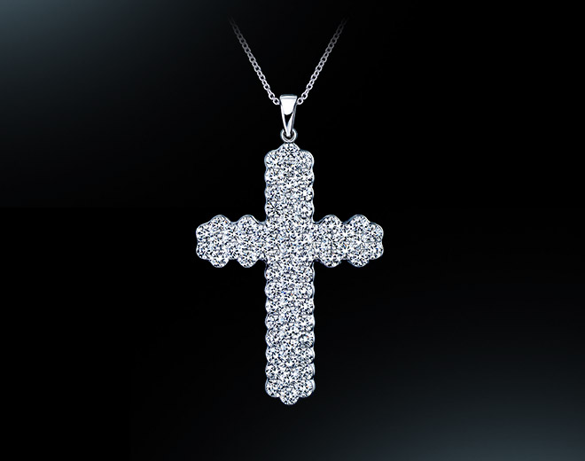 3Row Cross Pendant