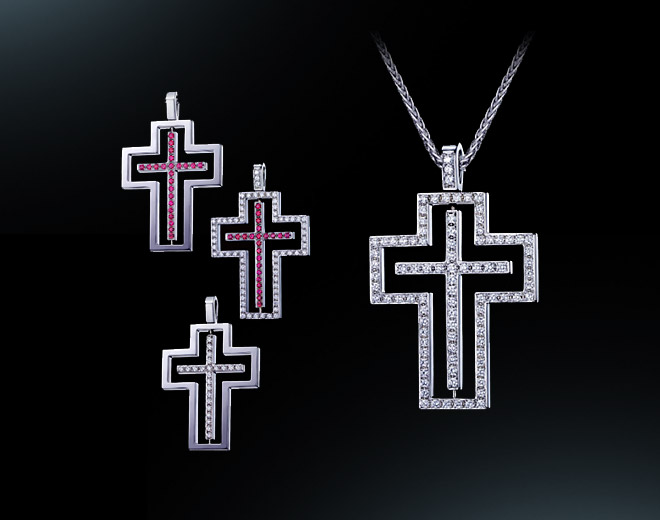 Girasole Cross Pendant